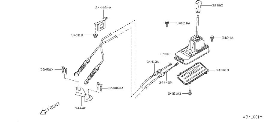 Nissan Versa Manual Transmission Shift Knob. CONTROL