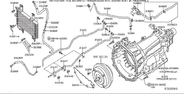 Nissan 200SX Clip Hose. Clip Wiring Harness. VAC, FORA