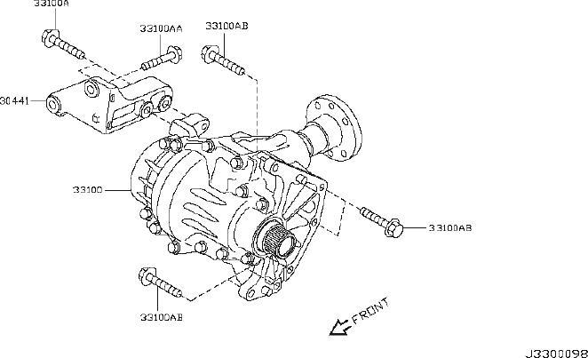 Nissan Juke Engine Mount Bolt. AWD, TRANSMISSION, MOUNTING