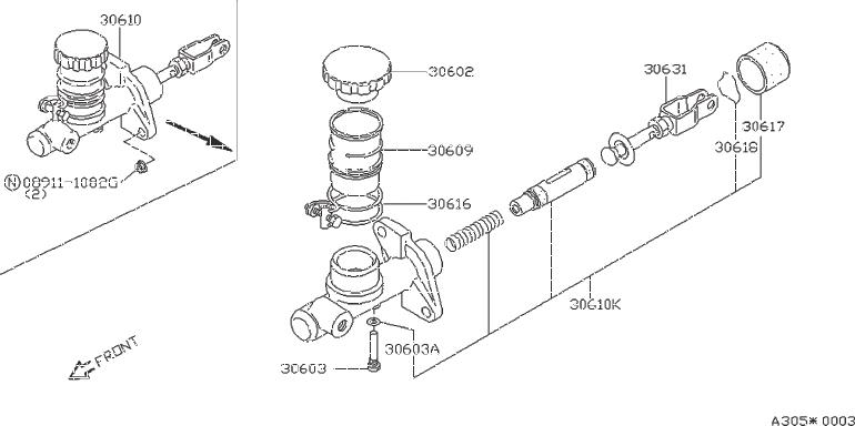 Nissan Maxima Clutch Master Cylinder Repair Kit. NABCO