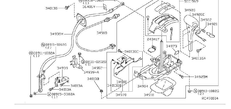 Nissan Altima Shift Interlock Solenoid. TRANSMISSION