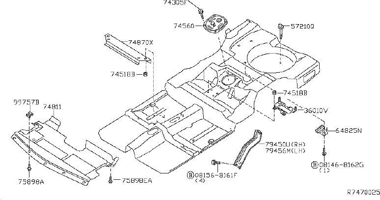 Nissan Altima Radiator Support Splash Shield (Lower