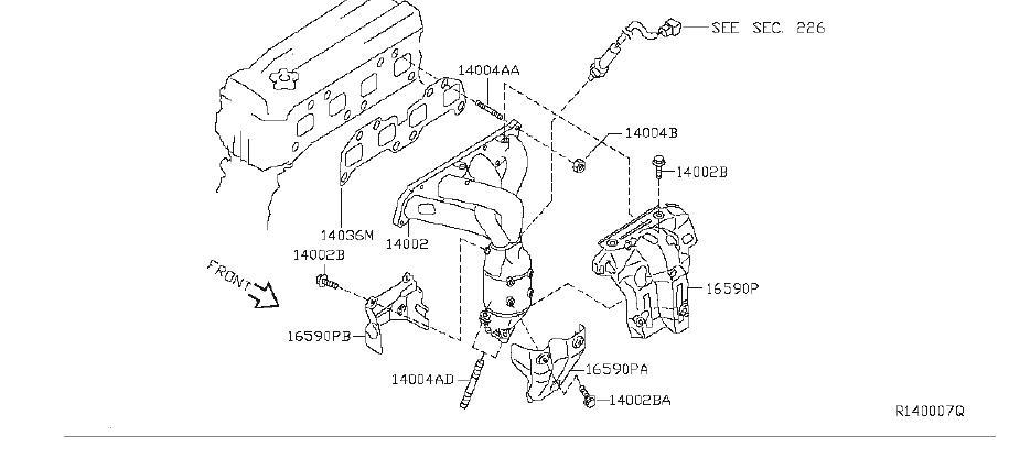 Nissan Altima Plate Heat Shield. (Rear). EXHAUST, INTAKE