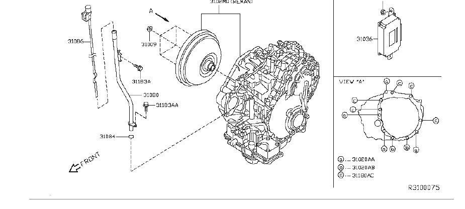 Nissan Altima Automatic Transmission Control Module. CVT