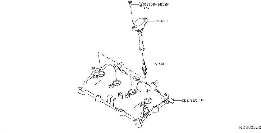 Nissan Altima Spark Plug. IGNITION, System, Electrical