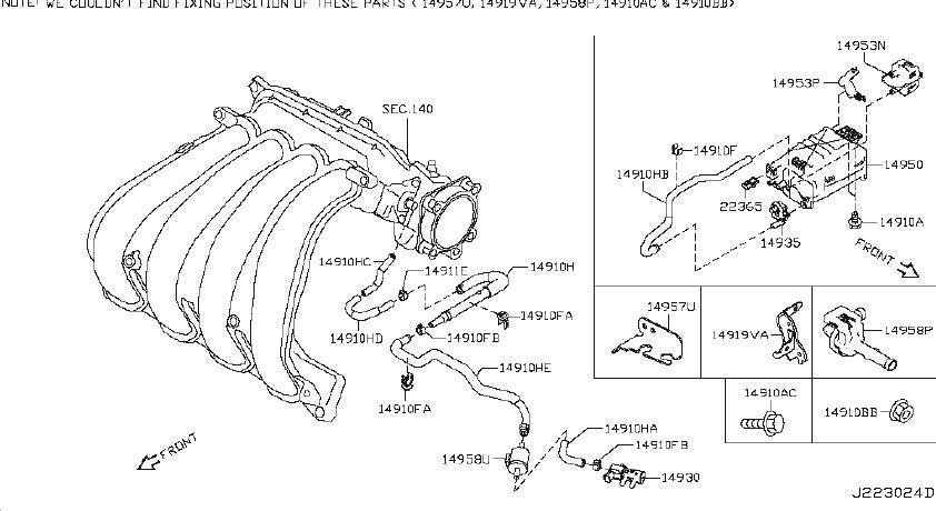 Nissan Altima Evaporative Emissions System Lines. CONTROL