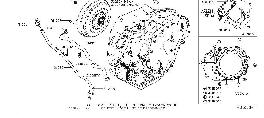 Nissan Altima Automatic Transmission Mount Bolt. ENGINE