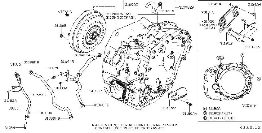 Nissan Altima Bracket Automatic Transmission Control
