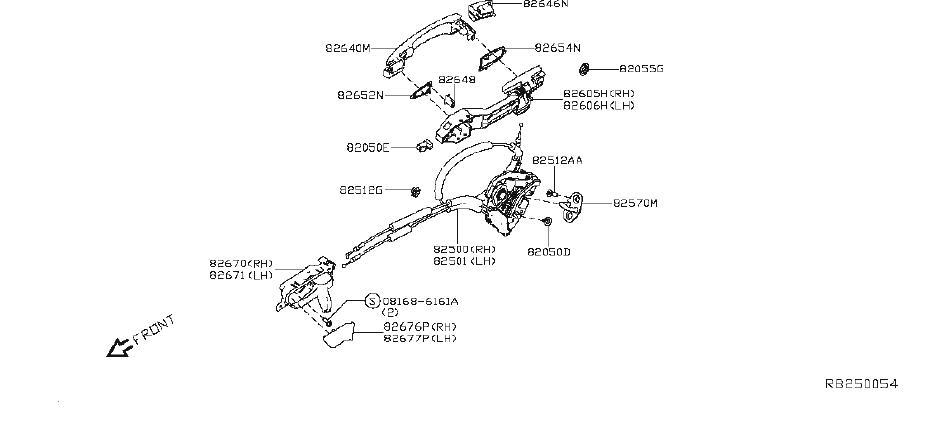 Nissan Altima Cap Inside Handle. (Left). DOOR, LOCK