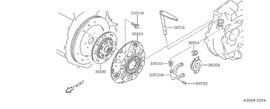 Nissan Pulsar NX Clutch Release Arm. TRANSMISSION, CASE