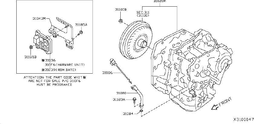 Nissan Versa Automatic Transmission Control Module
