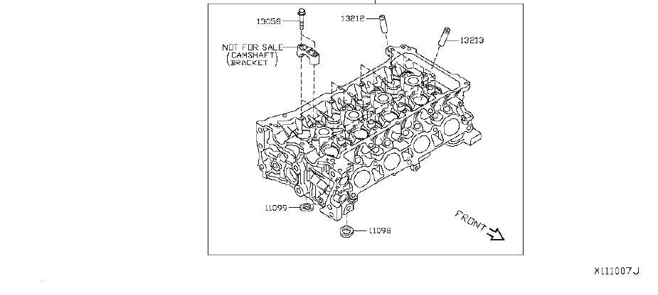 Nissan Versa Engine Valve Cover Gasket. COMPONENT