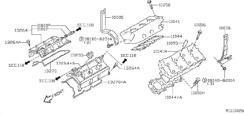 Nissan Xterra Bolt Camshaft Bracket. HEAD, ROCKER