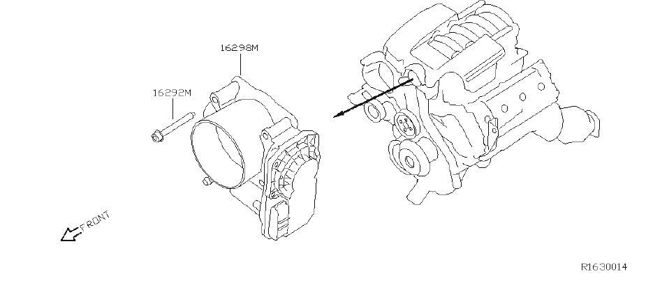 Nissan Xterra Fuel Injection Throttle Body. CHAMBER