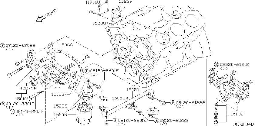 Datsun PICKUP Engine Crankshaft Seal (Front). SELECT, NOK
