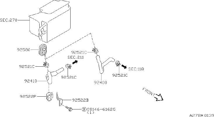Nissan Pathfinder Hose Heater, Outlet. PIPING, HVAC