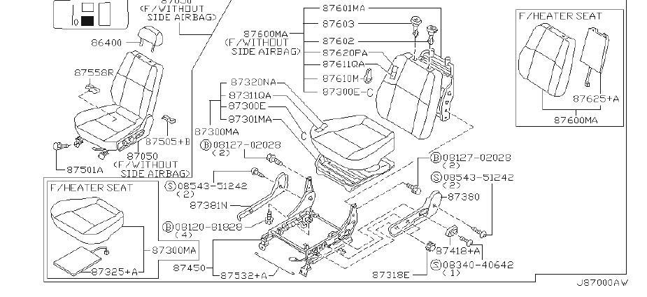 Nissan Pathfinder Seat Trim Panel (Left, Front). Other