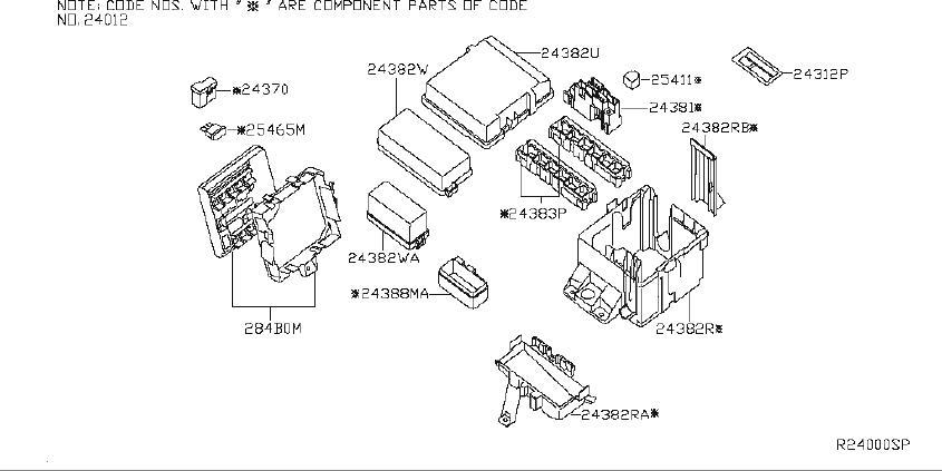 Nissan Pathfinder Holder Fusible Link. ROOM, ENGINE