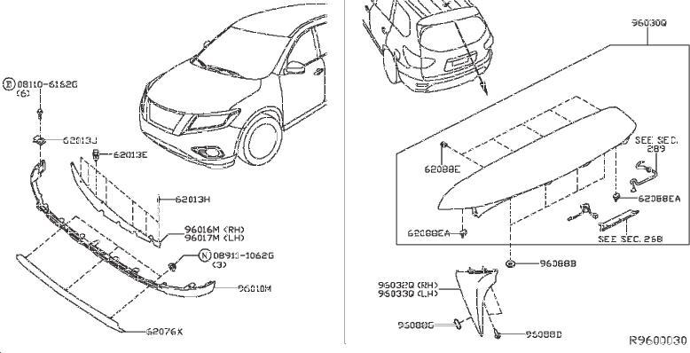 Nissan Pathfinder Radiator Support Air Deflector (Left