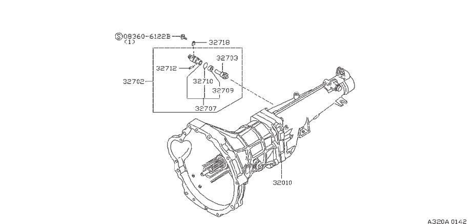 Nissan 200SX Pinion Speedometer. CAB, TRANSMISSION, LONG