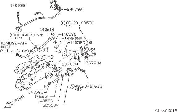 Nissan 240SX Fuel Injection Idle Air Control Valve. ATSUGI