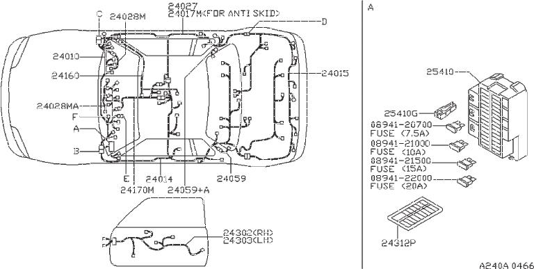 Datsun PICKUP Condenser Ignition Coil. POLES, DEFOGGER
