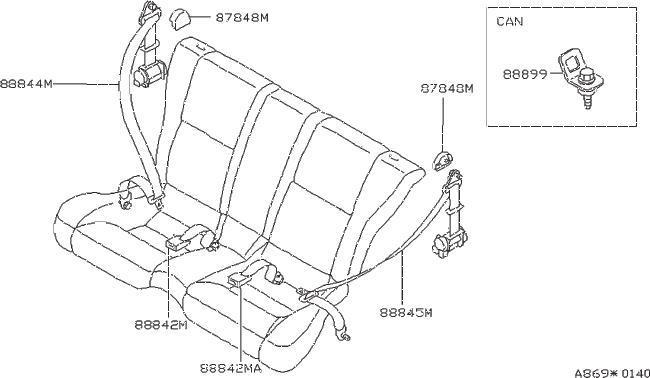 Nissan 240SX Cover Belt Shoulder Anchor. Cover Seat Belt