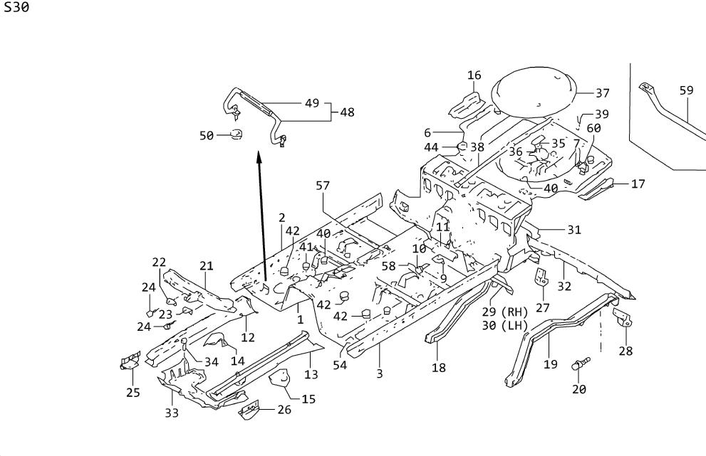 Nissan 300ZX Distributor Bolt. FLOOR, Engine, COVER