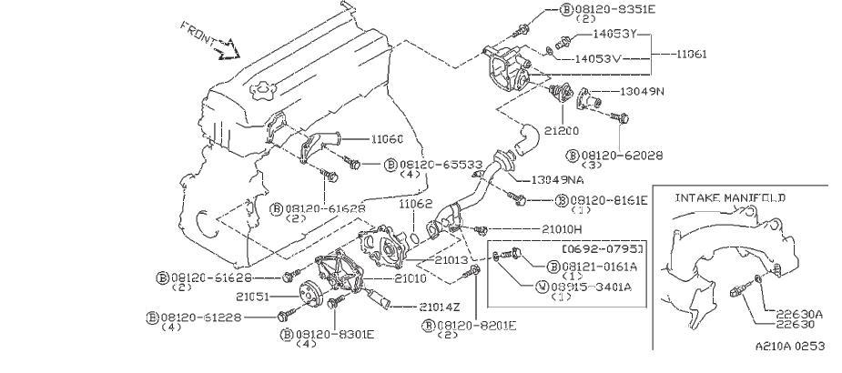 Nissan Altima Engine Coolant Temperature Sensor. JECS
