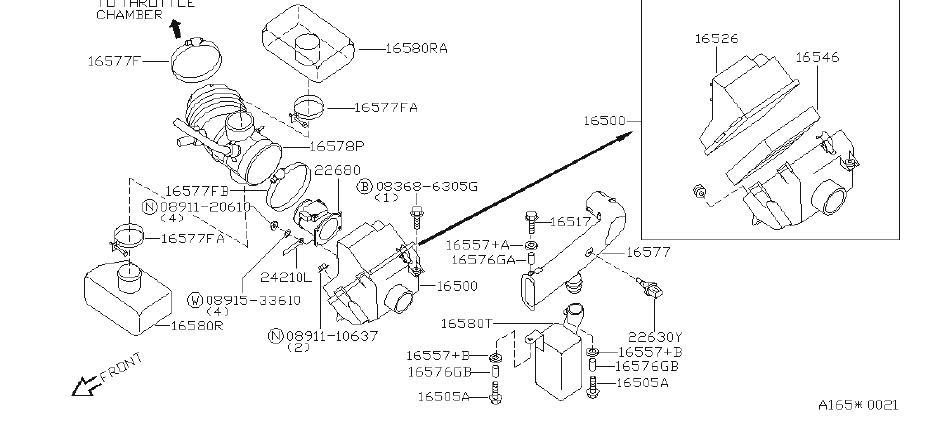 Nissan Quest Mass Air Flow Sensor. COMPONENT, CLEANER