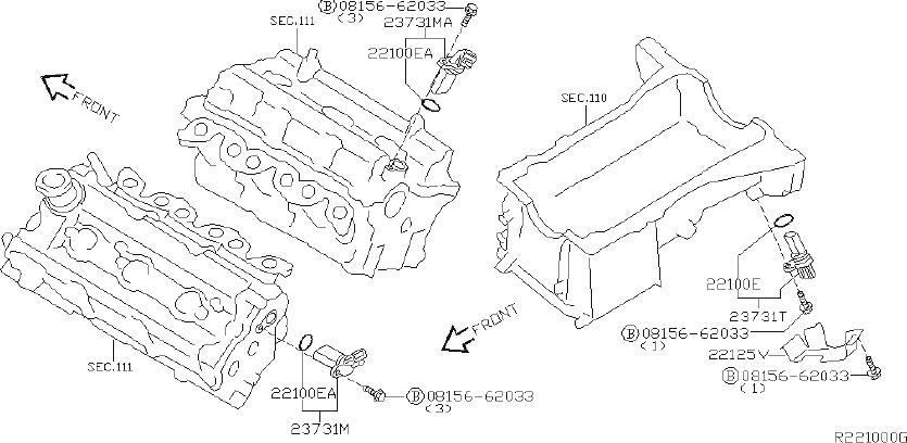 Nissan Quest Engine Crankshaft Position Sensor