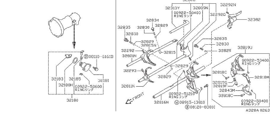 Nissan Pathfinder Ball Steel. Plunger Interlock. SHIFT