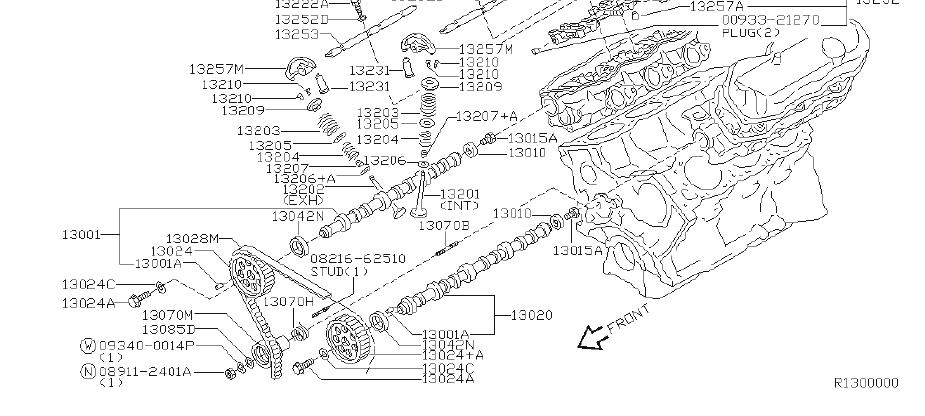Nissan Xterra Bolt Rocker Shaft. CAMSHAFT, VALVE