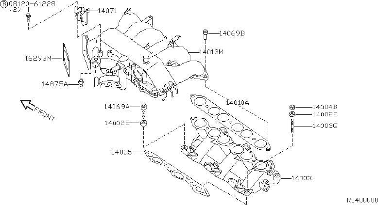 Nissan Xterra Fuel Injection Throttle Body Mounting Gasket