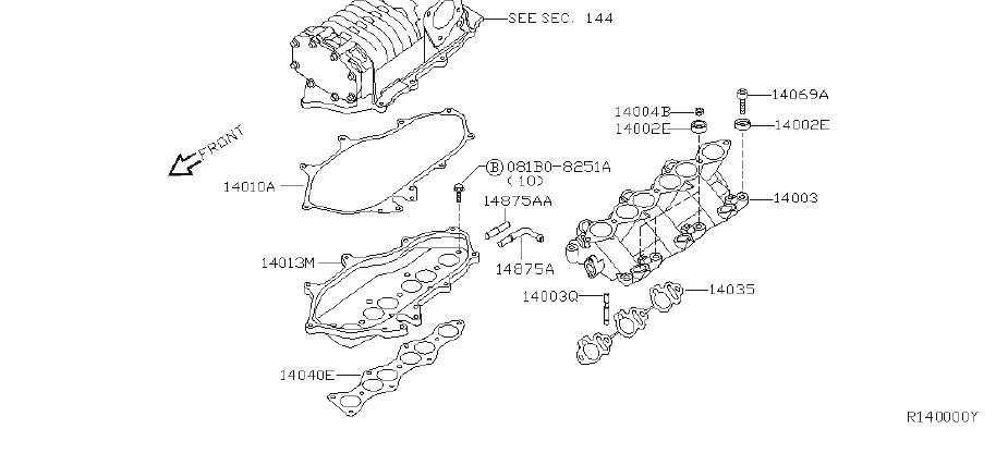 Nissan Xterra Supercharger Gasket (Upper). INTAKE, EXHAUST