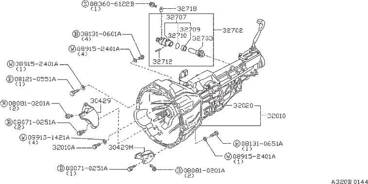 Nissan 300ZX Pinion Speedometer. CAB, TRANSMISSION