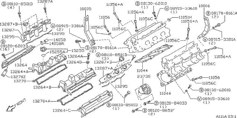 Nissan 300ZX Engine Camshaft Plug. ASSEMBLY, COMPONENT