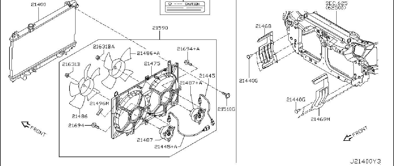 Nissan 350Z Engine Coolant Reservoir Hose. FITTING, SHROUD