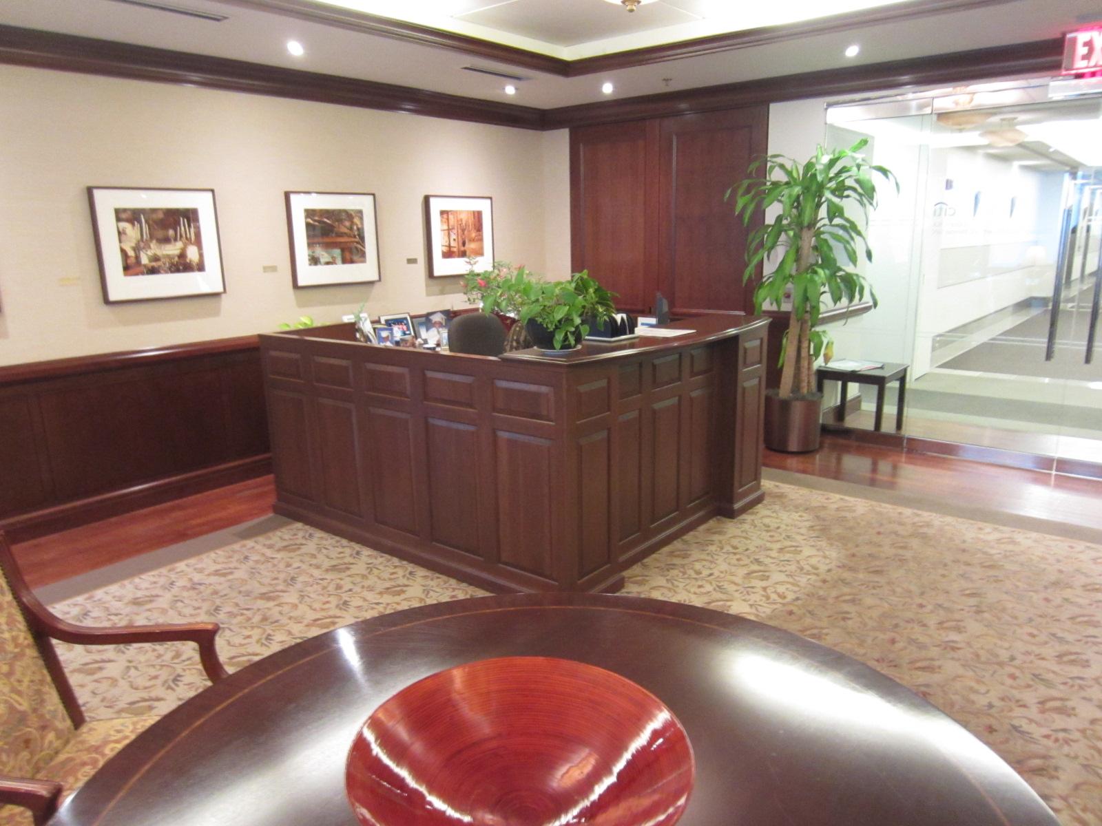 Traditional Reception Desk  R6112C  Conklin Office Furniture
