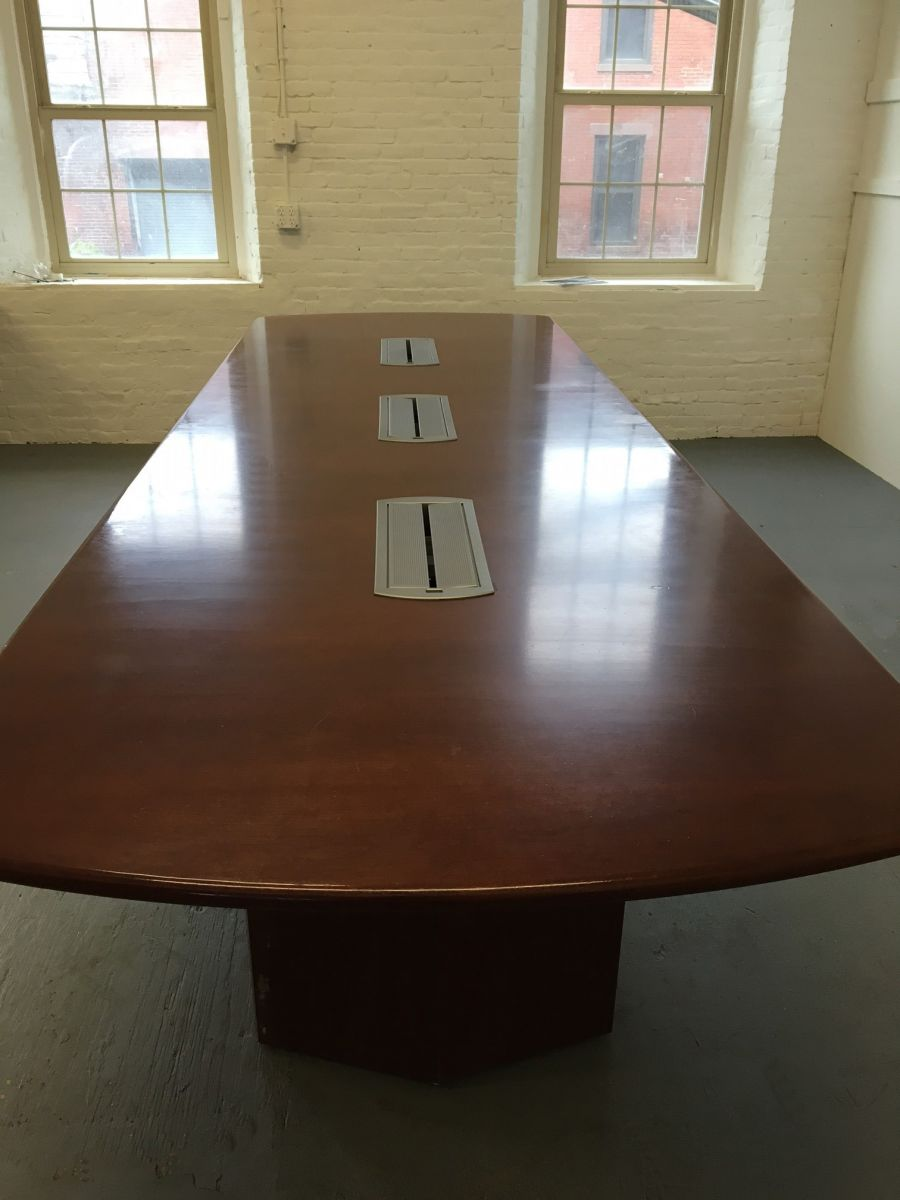 12 x 4 Mahogany Conference Table  Conklin Office Furniture