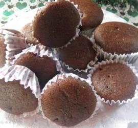 Muffins de algarroba y dulce de algarroba