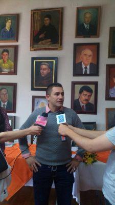 Alcalde de Marinilla con los medios