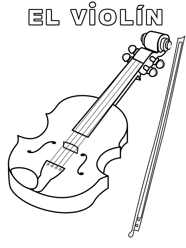 Easy Clarinet Coloring Pages