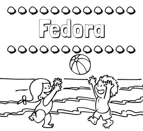 Nombre Fedora: Hacer un dibujo del nombre en la playa