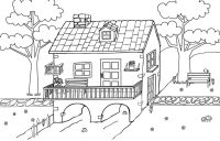 Dibujos Para Colorear De Casas Bonitas Casas Para Colorear L