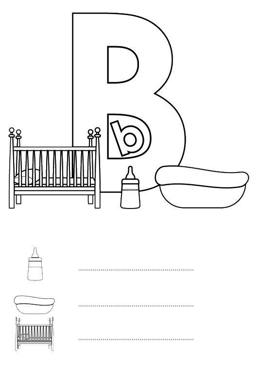 Letra B Dibujo Para Colorear E Imprimir