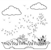 Dibujo de unir puntos de canguro: dibujo para colorear e ...