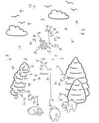 Imprimir: Dibujo de unir puntos de un molino: dibujo para ...