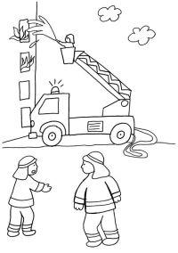 Escalera de bombero: dibujo para colorear e imprimir