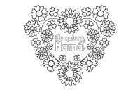 Corazn con flores para el da de la madre: dibujo para ...